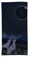 Dark Sky Eclipse Flare Beach Towel