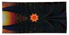 Dark Space Fractal  Beach Towel