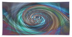 Dark Swirls Beach Towel