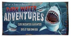 Dark Water Adventure Beach Towel