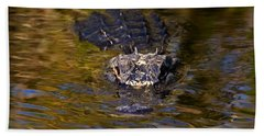 Dark Water Predator Beach Towel