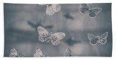 Darkened Butterflies Beach Towel