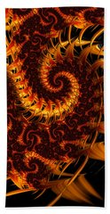 Beach Towel featuring the digital art Darkness In Paradise by Jeff Iverson