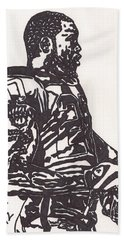 Beach Sheet featuring the drawing Darren Mcfadden 1 by Jeremiah Colley