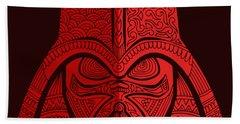 Darth Vader - Star Wars Art - Red 02 Beach Towel