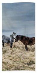 Dartmoor Ponies On Dartmoor Beach Towel