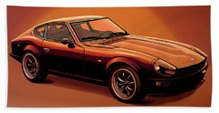 Datsun 240z 1970 Painting Beach Towel by Paul Meijering