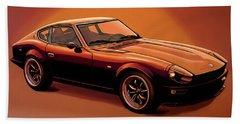 Datsun 240z 1970 Painting Beach Sheet by Paul Meijering