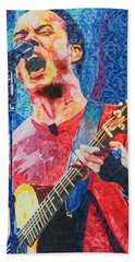 Dave Matthews Squared Beach Towel by Joshua Morton