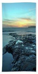 Davenport Landing Beach At Sunset Beach Sheet