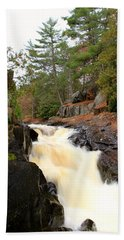 Beach Towel featuring the photograph Dave's Falls #7277 by Mark J Seefeldt