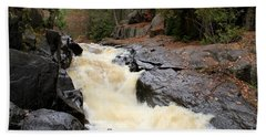 Beach Towel featuring the photograph Dave's Falls #7284 by Mark J Seefeldt