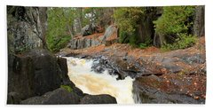 Beach Sheet featuring the photograph Dave's Falls #7311 by Mark J Seefeldt