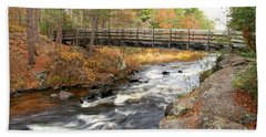 Beach Towel featuring the photograph Dave's Falls #7480 by Mark J Seefeldt