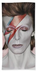 David Bowie Artwork 1 Beach Towel by Sheraz A