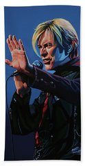 David Bowie Live Painting Beach Sheet
