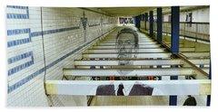 David Bowie N Y C Subway Tribute # 4 Beach Towel