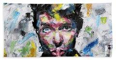 David Bowie Shh Beach Towel