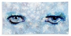 David Bowie / Stardust Beach Towel by Elizabeth McTaggart