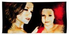 Beach Towel featuring the digital art Dawn And Ryli 1 by Mark Baranowski