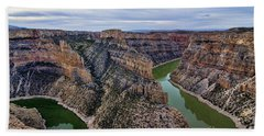 Dawn At Devils Overlook Bighorn Canyon Beach Towel