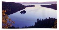 Dawn At Emerald Bay, Lake Tahoe Beach Sheet