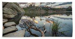 Beach Sheet featuring the photograph Dawn At Sylvan Lake by Adam Romanowicz
