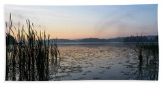 Dawn At The Lake Enajarvi Beach Sheet
