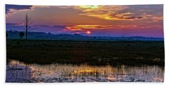 Dawn Breaking Over Saint Marks Beach Sheet