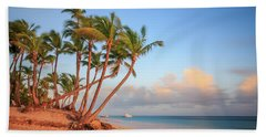 Beach Towel featuring the photograph Dawn In Punta Cana by Adam Romanowicz