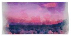 Dawn In Taos In Aquarelle Beach Towel