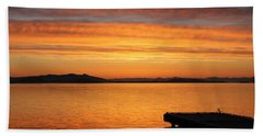 Dawn In The Sky At Dusavik Beach Towel