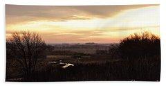 Dawn In The Valley Beach Towel