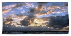 Dawn Of A New Day Treasure Coast Florida Seascape Sunrise 138 Beach Towel