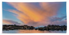 Dawn Of Cloud At North Jetty Beach Towel