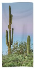 Dawn Of Saguaros Beach Sheet