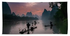 Waiting For Sunrise On Lee River. Beach Towel