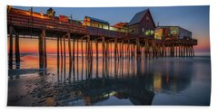 Beach Towel featuring the photograph Dawn On Old Orchard Beach by Rick Berk