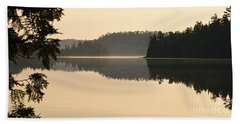 Dawn On Ottertrack Lake Beach Sheet