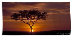 Dawn On The Masai Mara Beach Towel