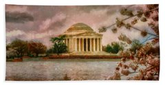 Dawn Over The Jefferson Memorial Beach Towel
