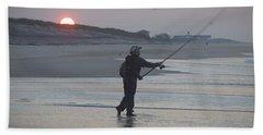 Beach Towel featuring the photograph Dawn Patrol by Newwwman