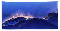 Dawn With Snow Banners Over Truchas Peaks Beach Towel by Anastasia Savage Ealy
