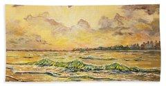 Dawns View Of Siesta Key Beach Sheet by Lou Ann Bagnall