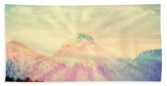 Dawn's Wonder Glow On My Mountain Muse Beach Towel by Anastasia Savage Ealy