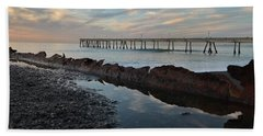 Day At The Pier Beach Towel