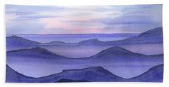 Beach Sheet featuring the painting Day Break by Yolanda Koh