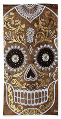 Day Of Death Beach Towel by J- J- Espinoza