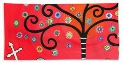 Day Of The Dead Cemetery Beach Towel