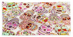 Day Of The Dead Colors Beach Towel